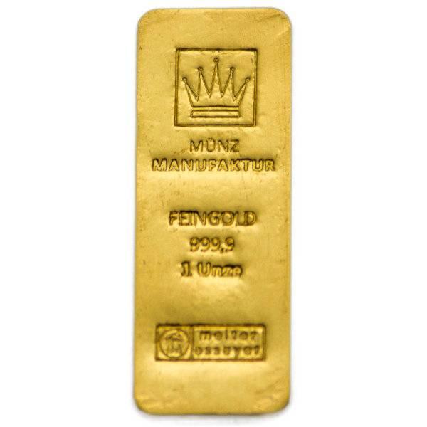 Goldene Sargbarren von der MünzManufaktur