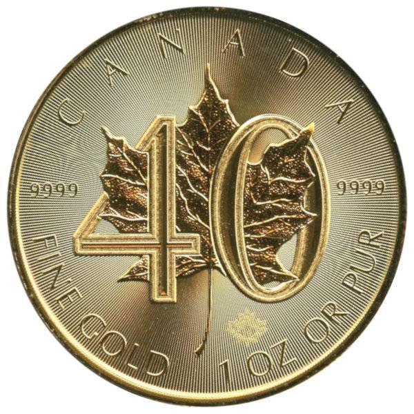 Jubiläumsausgabe - 40 Jahre Maple Leaf in Gold