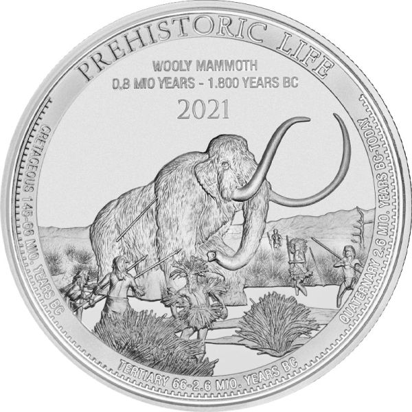 Prehistoric Life - Wollmammut Silber