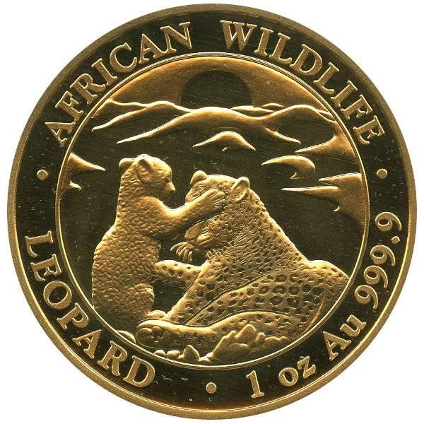 1 oz Somalia African Wildlife Leopard 2019
