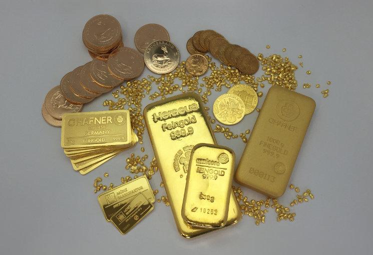 Anlagegold als Münzen und Barren