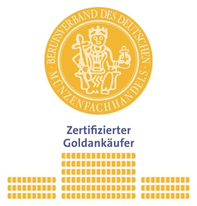 Wir sind zertifizierter Goldankäufer