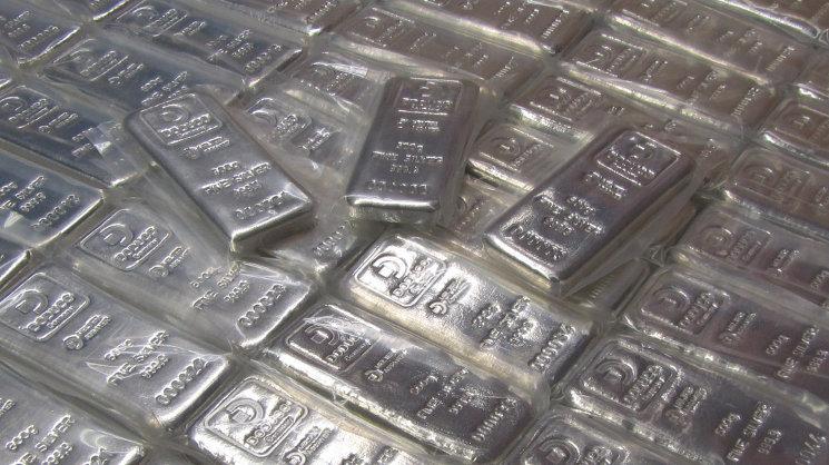 Silberbarren zur Geldanlage